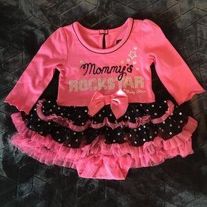 Mommy's Rockstar TuTu Dress by baby glam
